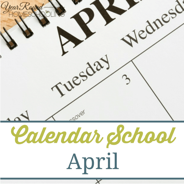 Calendar School Month - April