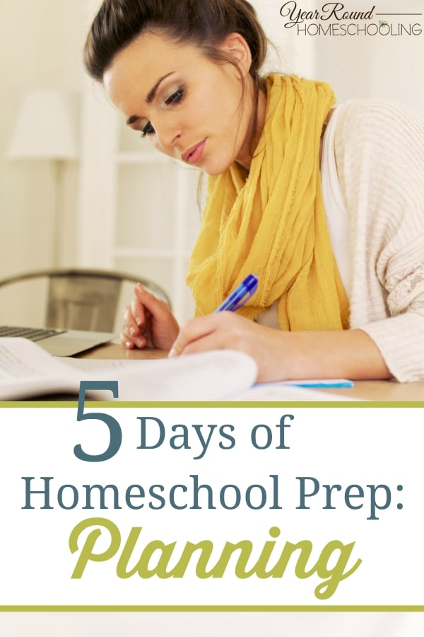 5 Days of Homeschool Prep- Planning - By Misty