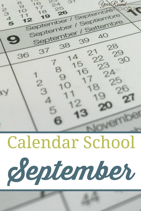 Calendar School – September - By Jenny