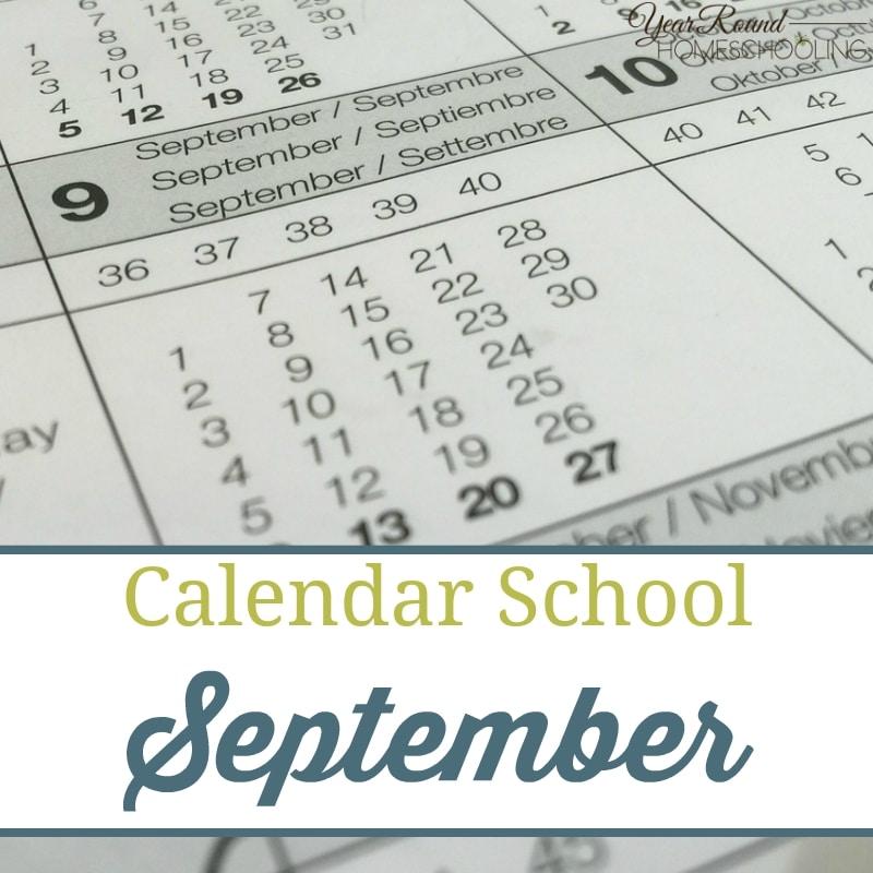 Calendar School – September
