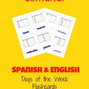 Spanish Days of the Week - Year Round Homeschooling