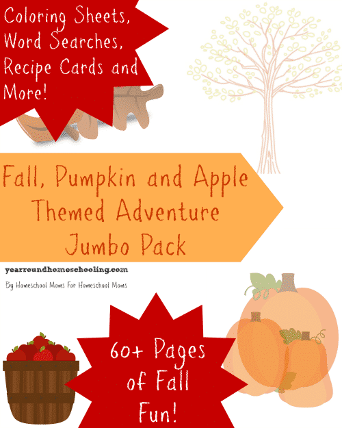 Fall, Pumpkin and Apple Themed Adventure Pack