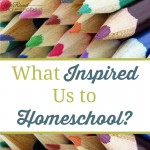 What Inspired Us to Homeschool?