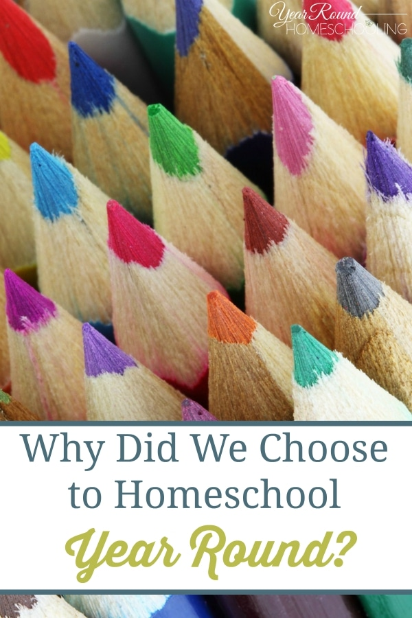 Why Did We Choose to Homeschool Year Round? - By Jolene