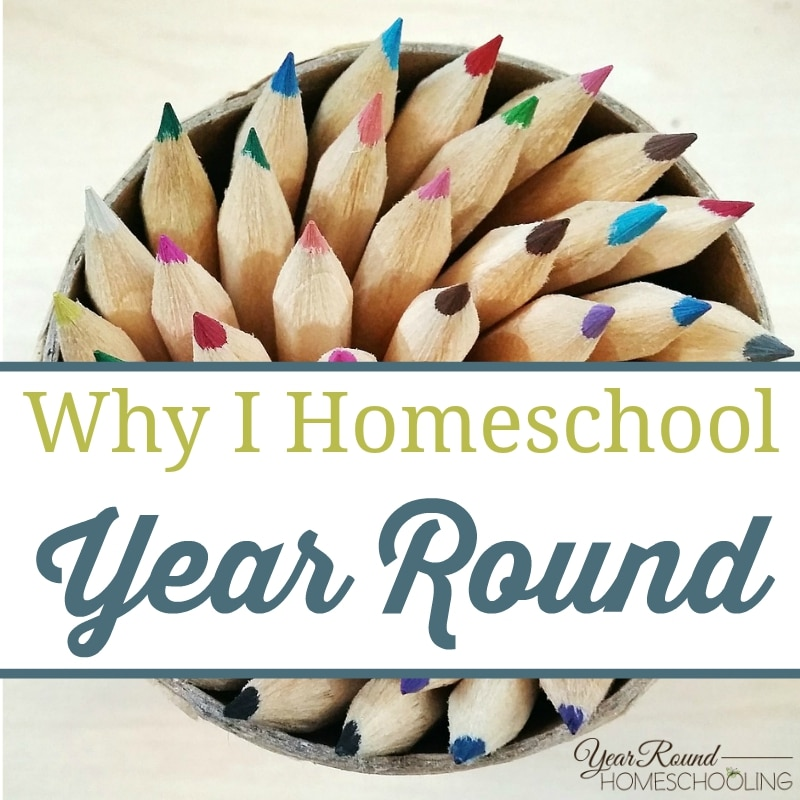 Why I Homeschool Year Round