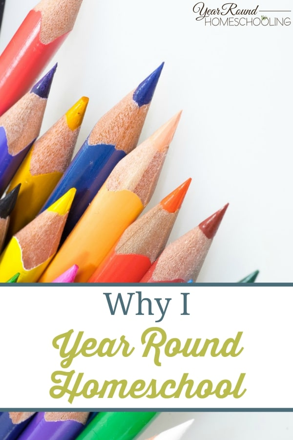 Why I Year Round Homeschool - By Donna