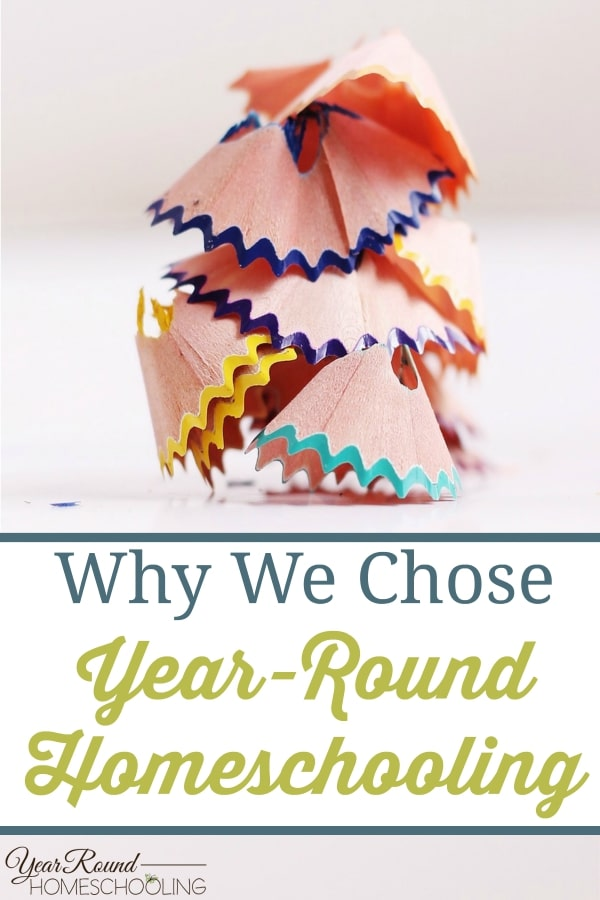 Why We Chose Year-Round Homeschooling - By Selena