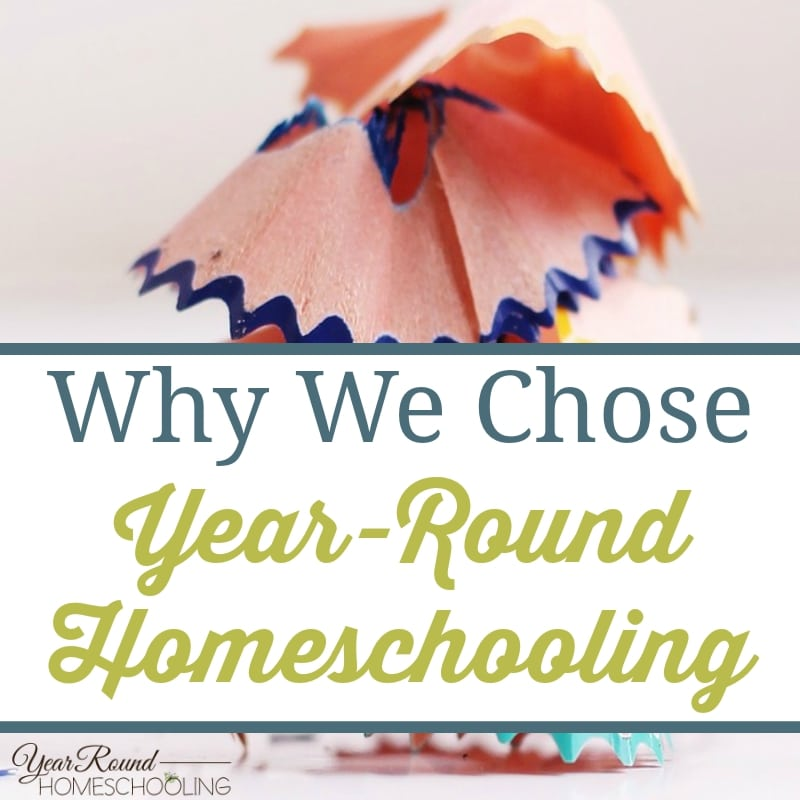 Why We Chose Year-Round Homeschooling