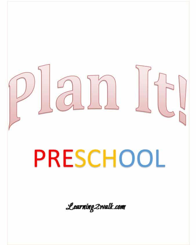 Brand New! Preschool Planner!