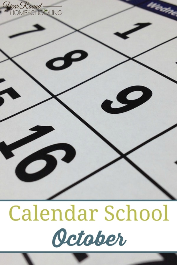Calendar School - October - By Jenny