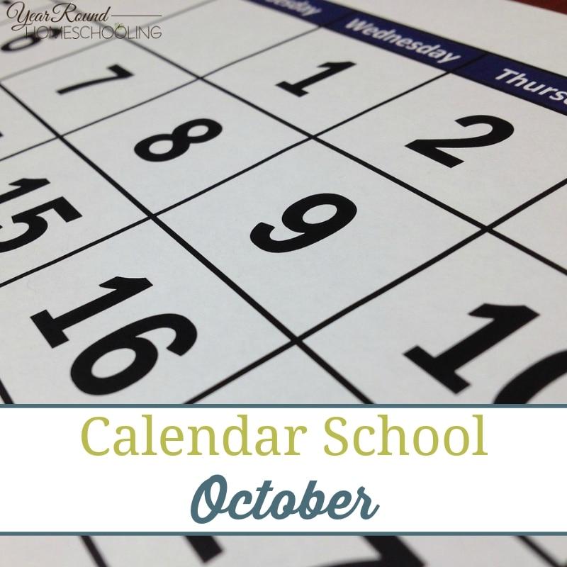 Calendar School – October