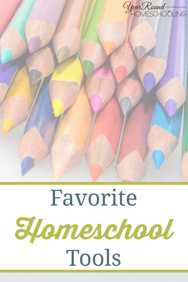 The year round homeschooling contributor team shares their favorite homeschool tools! These are tried and proven tools that everyone should have!