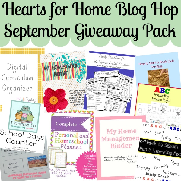 Check out the great prize package for one Hearts for Home Blog Hop reader!