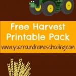 Free Harvest Printable Pack