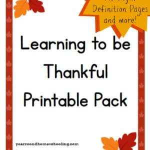 It's so important to ensure our kids are learning to be thankful!