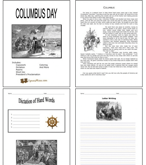 Columbus Day Books Activities RoundUp Year Round Homeschooling – Columbus Day Worksheets