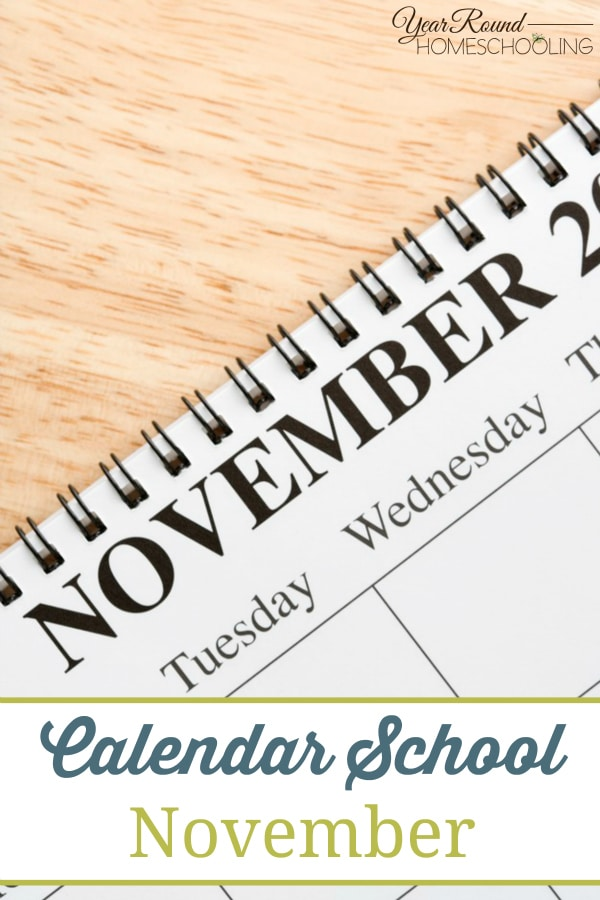 Calendar School - November - By Jenny