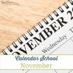 Calendar School – November