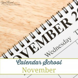 Calendar School - November - By Jenny