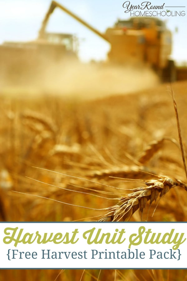 Harvest Unit Study with FREE Harvest Printable Pack - By Selena
