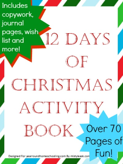 12 days of christmas activity book freebie. Black Bedroom Furniture Sets. Home Design Ideas
