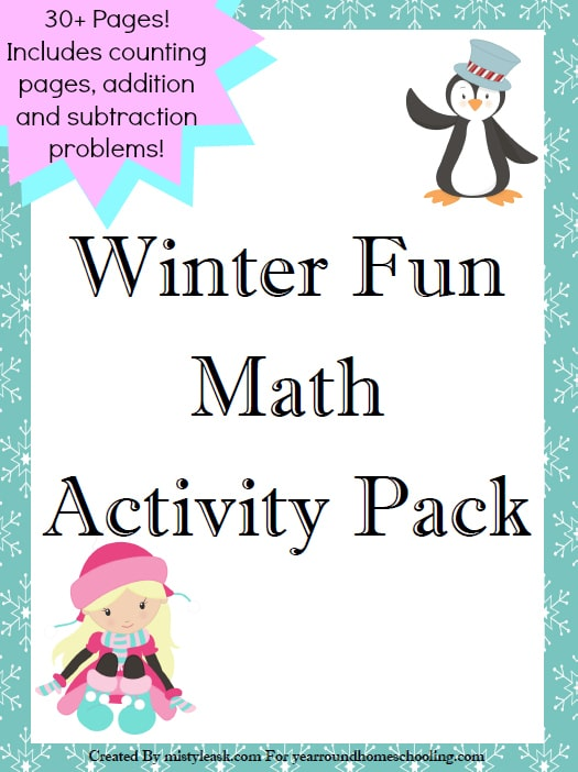 Kids will love doing their math with this free winter fun math pack!