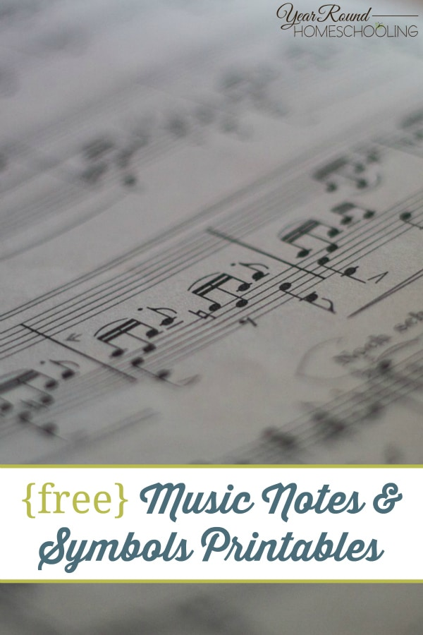 {free} Music Notes & Symbols Printables - By Annette
