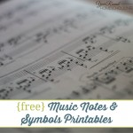 {free} Music Notes & Symbols Printables