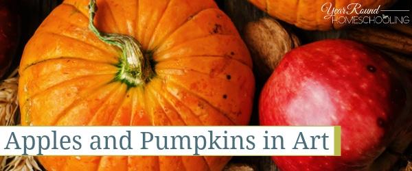 apples and pumpkins art, apple and pumpkin art, apple art, pumpkin art