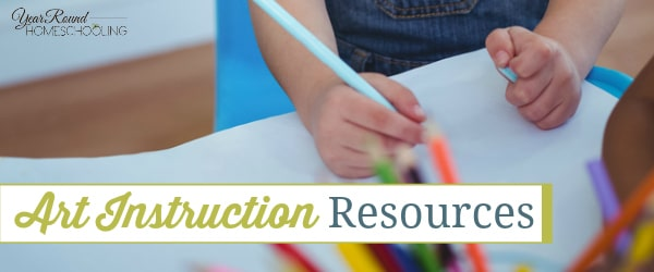 art instruction resources, art class resources, homeschool art class resources, homeschool art resources