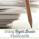 Using Right Brain Flashcards