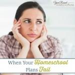 When Your Homeschool Plans Fail
