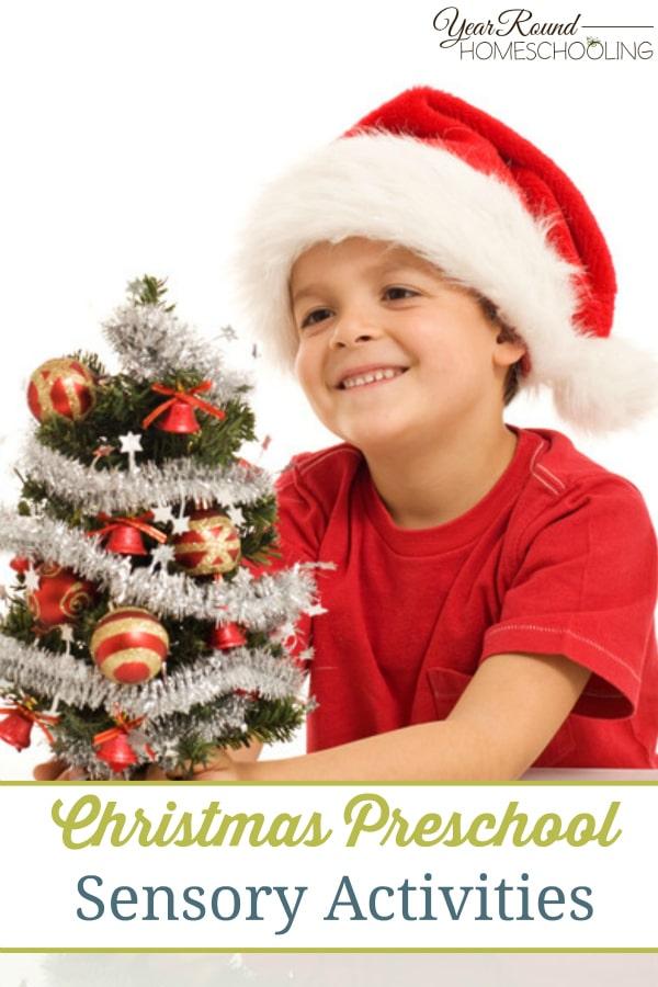 Christmas Preschool Sensory Activities - By Alecia
