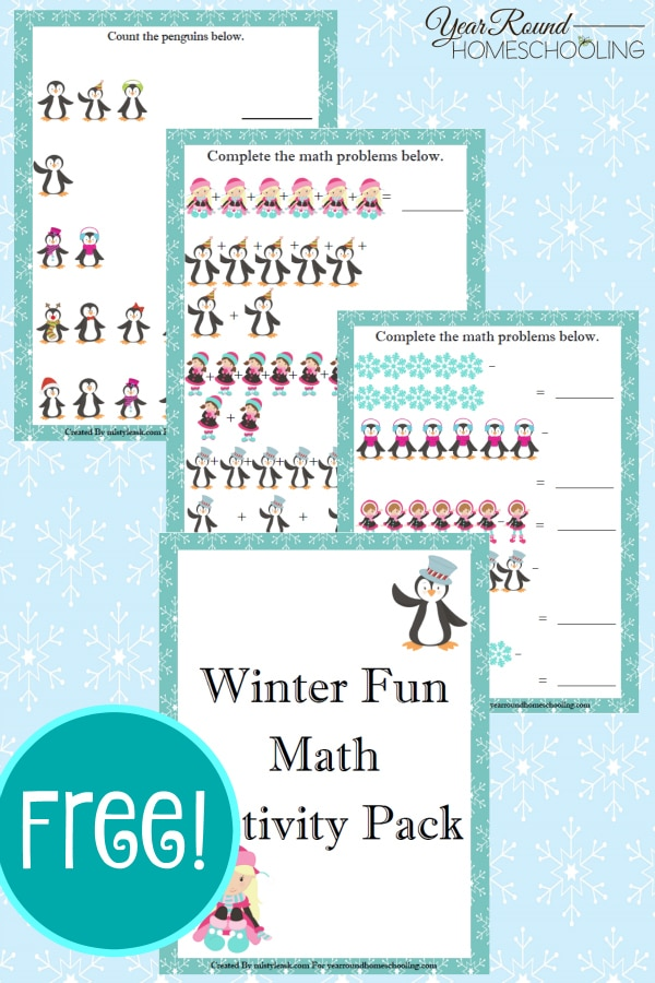 FREE Winter Time Math Activity Pack - Year Round Homeschooling