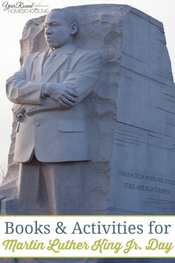 Books & Activities for Martin Luther King Jr. Day - By Keri