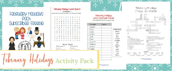 february holidays pack, february holidays activities