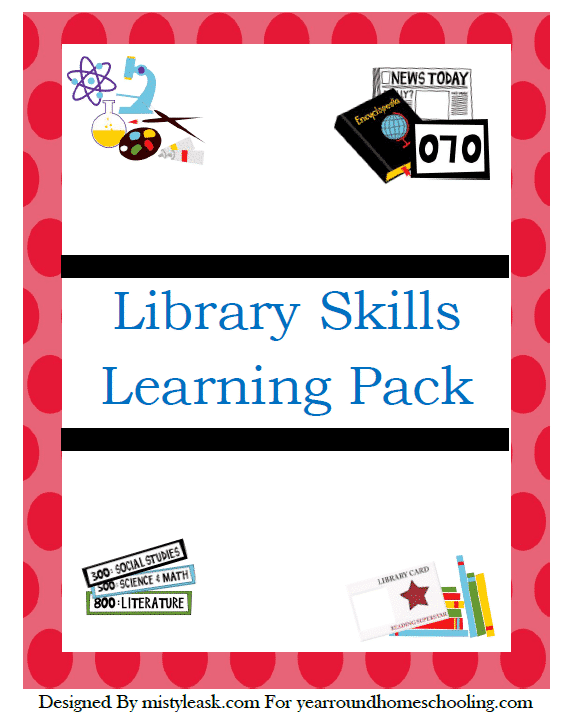 Library Skills Printable Pack