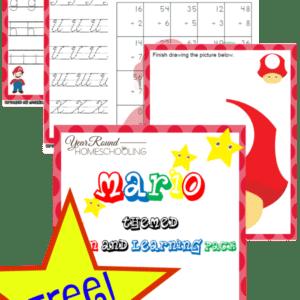 mario, homeschool, homeschooling, printable