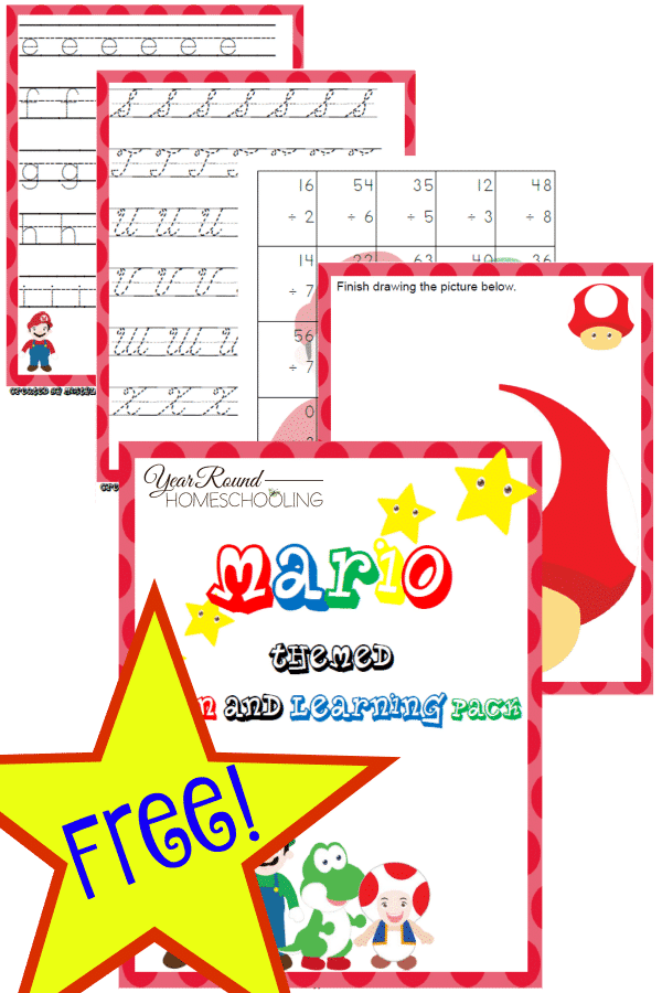 Mario Themed Fun & Learning Pack