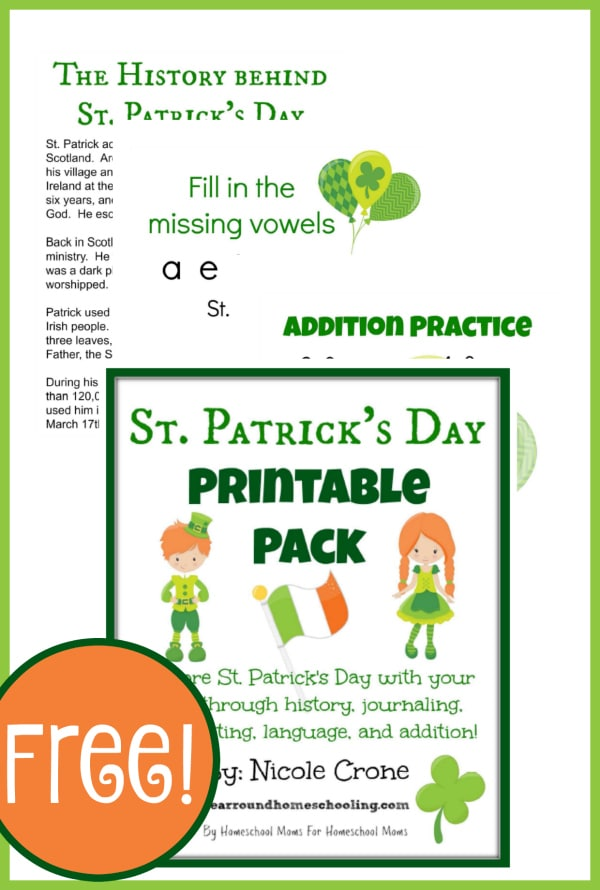 St. Patrick, St.  Patty's, history, homeschool, homeschooling, printable