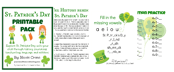 Free St. Patrick's Day Learning Pack