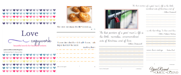 *FREE* Valentine's Day Copywork Pages