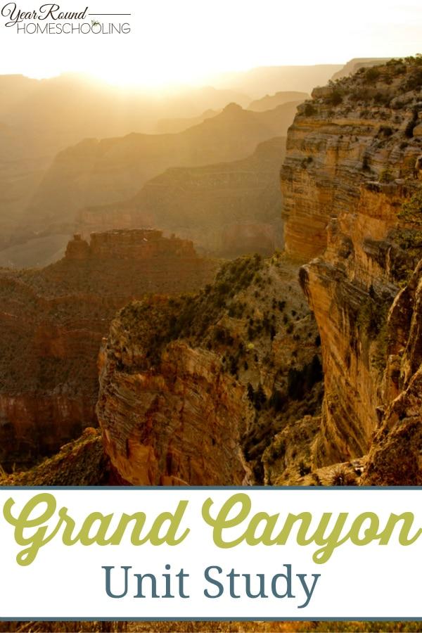 grand canyon, unit study, geography, homeschool, homeschooling