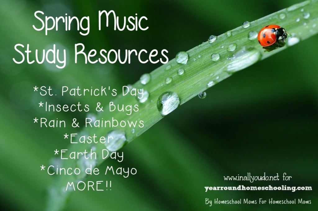 Spring is just around the corner and there are some many chances for adding music to your homeschool! Check out these great resources!! :: www.yearroundhomeschooling.com