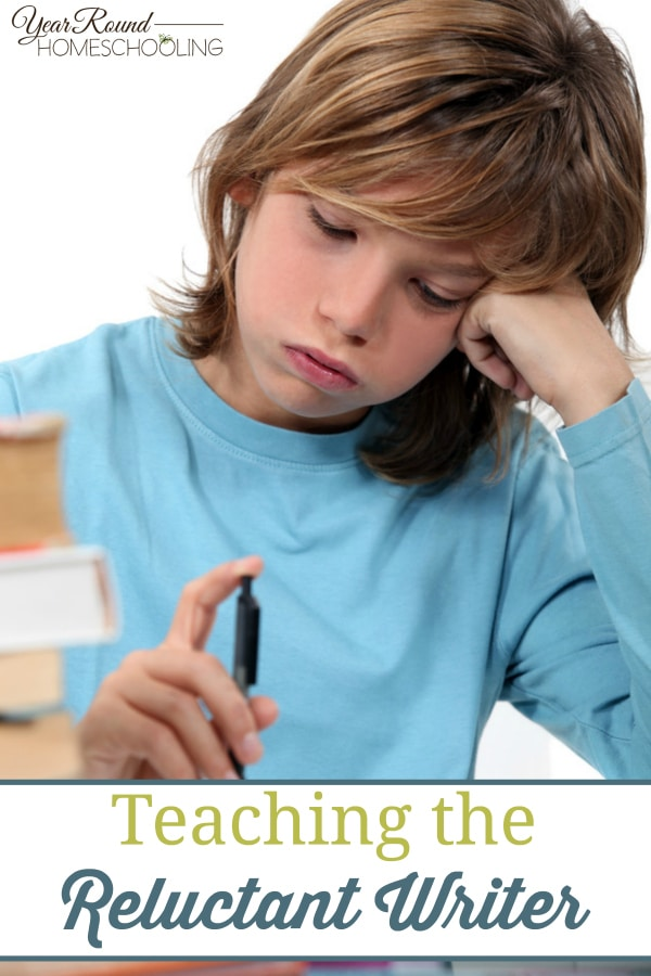 reluctant writer, writing, homeschool, homeschooling