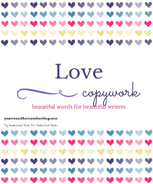Valentine's Day Copywork Pages