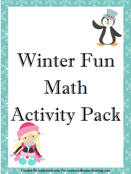 Winter Time Math Activity Pack