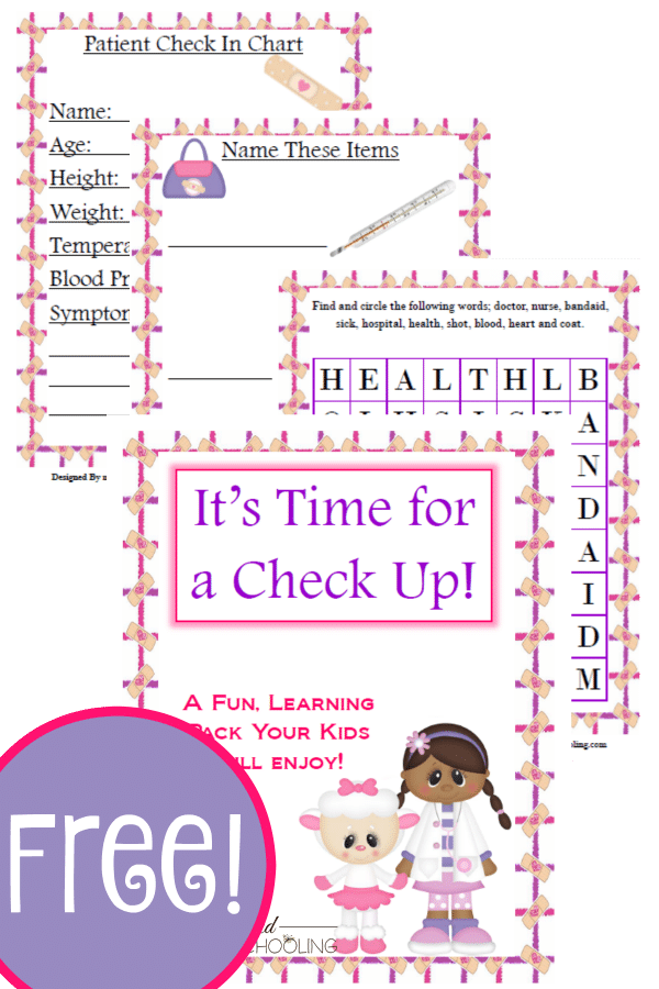 pretend play, doctor, homeschool, homeschooling, printable