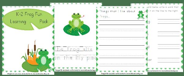 frog, spring, kindergarten, k-2, homeschool, homeschooling, printable, worksheets