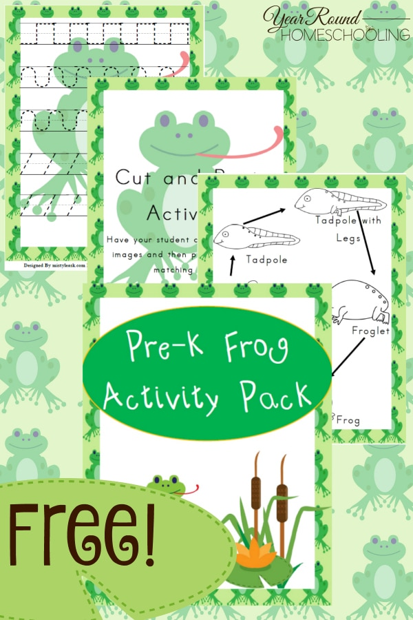 frog, spring, prek, preschool, homeschool, homeschooling, printable, worksheets